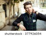 close up of an elegant man... | Shutterstock . vector #377926054