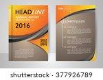 abstract vector modern flyers... | Shutterstock .eps vector #377926789