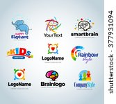 colorful logo set logo... | Shutterstock .eps vector #377931094