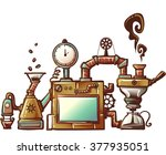 steampunk illustration of an... | Shutterstock .eps vector #377935051