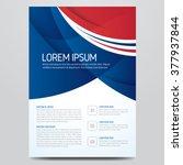 flyer  brochure  poster  annual ... | Shutterstock .eps vector #377937844