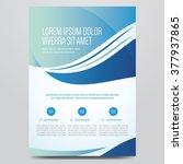 flyer  brochure  poster  annual ... | Shutterstock .eps vector #377937865