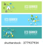 eco banners   ecology ... | Shutterstock .eps vector #377937934