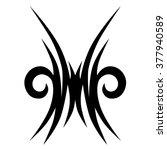 tattoo. stencil. pattern.... | Shutterstock .eps vector #377940589