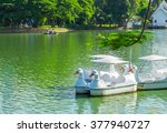 White Duck Pedal Boats On The...