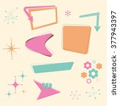 a set of retro 50s themed... | Shutterstock .eps vector #377943397