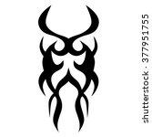 tattoo tribal vector design.... | Shutterstock .eps vector #377951755