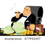 vector illustration of a rich... | Shutterstock .eps vector #377952457