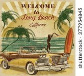 welcome to long beach ... | Shutterstock . vector #377954845