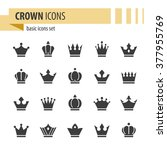crown icons. | Shutterstock .eps vector #377955769