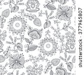 seamless pattern in vintage... | Shutterstock .eps vector #377965807
