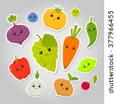vector set of flat cartoon... | Shutterstock .eps vector #377966455