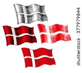 danish flag   stock image  ... | Shutterstock .eps vector #377979844