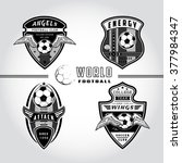 set of soccer badge logo .... | Shutterstock . vector #377984347