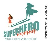 superhero woman design template ... | Shutterstock .eps vector #377987581