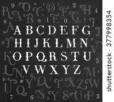 vector alphabet and numbers set.... | Shutterstock .eps vector #377998354
