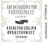 vector alphabet and numbers set.... | Shutterstock .eps vector #377998915
