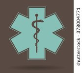 medical symbol of the emergency.... | Shutterstock .eps vector #378004771