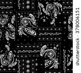 hand drawn paisley pattern.... | Shutterstock .eps vector #378006151