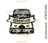 scout camp badge. graphic... | Shutterstock .eps vector #378007681