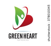 Logo Green Heart Icon Element...