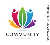 logo green community icon... | Shutterstock .eps vector #378010369