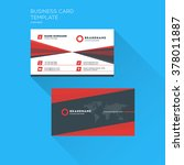 corporate business card print... | Shutterstock .eps vector #378011887