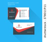 corporate business card print... | Shutterstock .eps vector #378011911