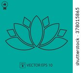 lotus flower vector icon.... | Shutterstock .eps vector #378015865