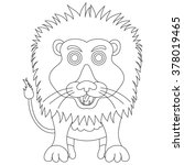 vector coloring cute lion... | Shutterstock .eps vector #378019465