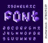 isometric 3d alphabet.   Shutterstock .eps vector #378029239
