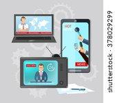 world news global online... | Shutterstock .eps vector #378029299