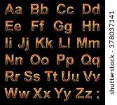 alphabet pseudo 3d red letters... | Shutterstock .eps vector #378037141