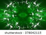 abstract fractal green... | Shutterstock . vector #378042115