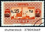 syria   circa 1938  a stamp... | Shutterstock . vector #378043669