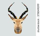 Antelope In Polygonal Style....