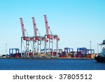 in a sea industrial freight port | Shutterstock . vector #37805512