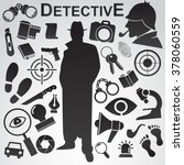 detective icon isolated on... | Shutterstock .eps vector #378060559