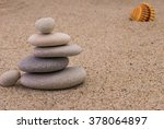 spa stones with shellfish on... | Shutterstock . vector #378064897