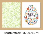 spring holiday card set.... | Shutterstock .eps vector #378071374