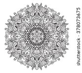 adult coloring page. mandala... | Shutterstock .eps vector #378073675