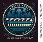 florida beach typography  t...   Shutterstock .eps vector #378076399