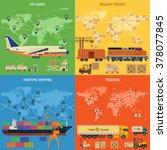 trucking industry 4 banners... | Shutterstock .eps vector #378077845