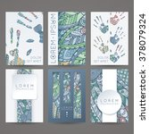 set of vector design templates. ... | Shutterstock .eps vector #378079324