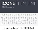 technology thin line icons | Shutterstock .eps vector #378080461