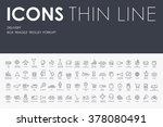 delivery thin line icons | Shutterstock .eps vector #378080491