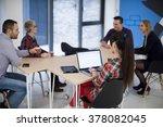 startup business team on...   Shutterstock . vector #378082045