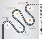 banner infographic design... | Shutterstock .eps vector #378083401