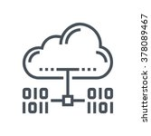 cloud hosting icon suitable for ... | Shutterstock .eps vector #378089467