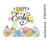 Greeting Card With Easter Eggs...